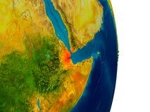 Djibouti sur le modèle de la terre de planète Images stock