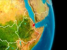 Djibouti sur terre illustration libre de droits