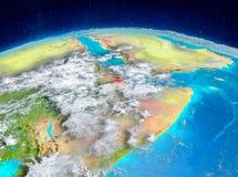 Djibouti sur terre illustration stock