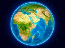 Djibouti sur terre illustration de vecteur