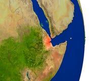 Djibouti sur terre Images stock