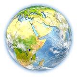 Djibouti sur terre d'isolement Photographie stock