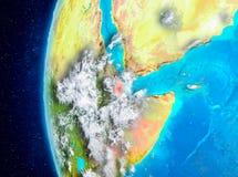 Djibouti sur terre de l'espace illustration libre de droits