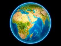 Djibouti sur terre de l'espace illustration de vecteur