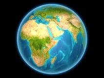 Djibouti sur terre de planète illustration stock
