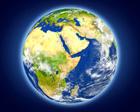 Djibouti sur terre de planète Photographie stock