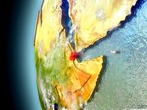 Djibouti sur terre de planète de l'espace Photos stock