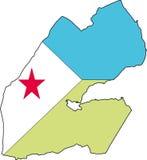 Djibouti-Vecteur de carte Photo stock
