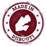 Djibouti vector seal. Royalty Free Stock Photo