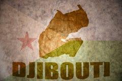 Djibouti vintage map Royalty Free Stock Photography
