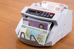 Djiboutian φράγκο σε μια μετρώντας μηχανή στοκ φωτογραφίες με δικαίωμα ελεύθερης χρήσης