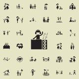 DJicon Καθολικό οικογενειακών εικονιδίων που τίθεται για τον Ιστό και κινητό διανυσματική απεικόνιση