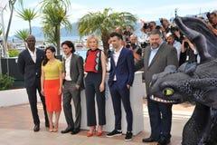 Djimon Hounsou et Cate Blanchett et America Ferrera et Jay Baruchel et Kit Harington et doyen Deblouis Photos libres de droits