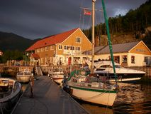 Djinga, Norway. Small marina on the West coast of Norway stock image