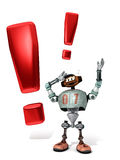 Djoby the robot Exclamation Royalty Free Stock Photos