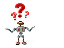 Djoby the robot happy surprised Royalty Free Stock Photography