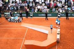 Djokovic, француз раскрывает 2014, окончательный стоковая фотография
