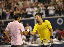 Djokovic # 1 - Federer # 3 (1) Royalty Free Stock Photos