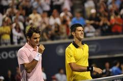 Djokovic # 1 - Federer # 3 (128) fotos de archivo