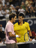 Djokovic # 1 - Federer # 3 (2a) Stock Image