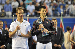Djokovic & Gasquet finalistRogers kopp 2012 (41) Royaltyfri Bild
