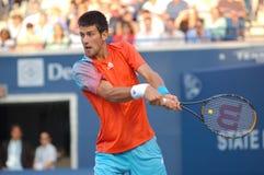 Djokovic Novak # 3 in de wereld (25) stock afbeelding