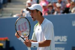 Djokovic Novak in QF of US Open 2008 (93) Stock Photography