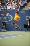 Djokovic Novak in US öffnen 2009 (14) Stockfotografie