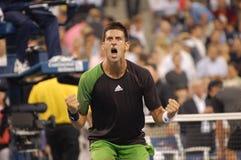 Djokovic Novak at US Open 2008 (6) Stock Photography