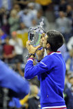 Djokovic Novak us open 2015 (15) Fotografia Royalty Free