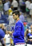 Djokovic Novak us open 2015 (17) Fotografia Stock