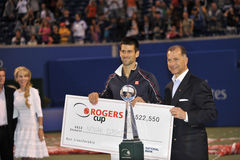 Djokovic winner of Rogers Cup 2012 (2) Stock Photos