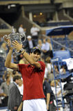 Djokovic winner of USOpen 2011 (3). Djokovic beat Nadal in final of US Open 2011 Stock Photo