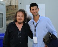Djokovic & Zucchero Royalty Free Stock Photography