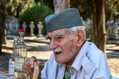 Djordje Mihailovic, cemetery keeper portrait stock photo