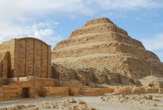 Djoser's step pyramid and funeral complex Royalty Free Stock Image