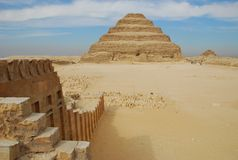Djoser's step pyramid and funeral complex Stock Image