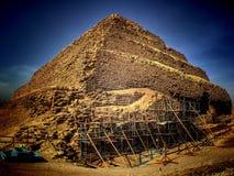 Djoser步金字塔在塞加拉(埃及) 库存照片