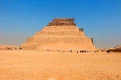 Djoser步骤金字塔在塞加拉,埃及 免版税库存照片