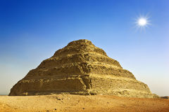 Djoser的步金字塔 库存图片