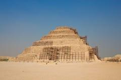 Djoser金字塔在塞加拉,埃及 库存照片