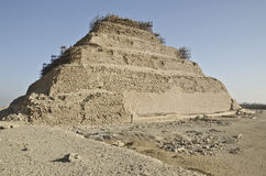 Djoser金字塔在塞加拉 库存图片