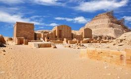 Djoser金字塔或步金字塔位于塞加拉大墓地 古老埃及 免版税库存照片