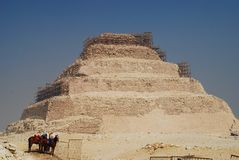 Djoser kroka Ostrosłup Saqqara, Giza governorate, Egipt Obrazy Royalty Free