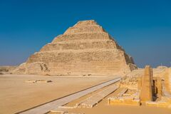 Free Djoser Or Step Pyramid The First Pyramid Built In Egypt, Saqqara, Egypt Stock Image - 179949441