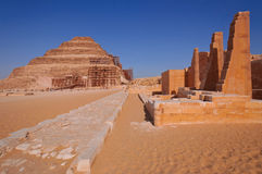 Djoser's step pyramid. Djoser's step pyramid is part of funeral complex of King Djoser Royalty Free Stock Images