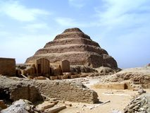 Djosers Pyramide Stockbild