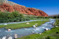 Djuku river in Tien Shan, Kyrgyzstan Royalty Free Stock Image