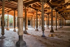 Djuma清真寺在Khiva 库存图片