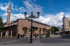 Djumaya meczet lub Ulu meczet, jesteśmy cennym architektonicznym zabytkiem w Plovdiv który daje pomysłowi stara ugoda Filibe obraz stock